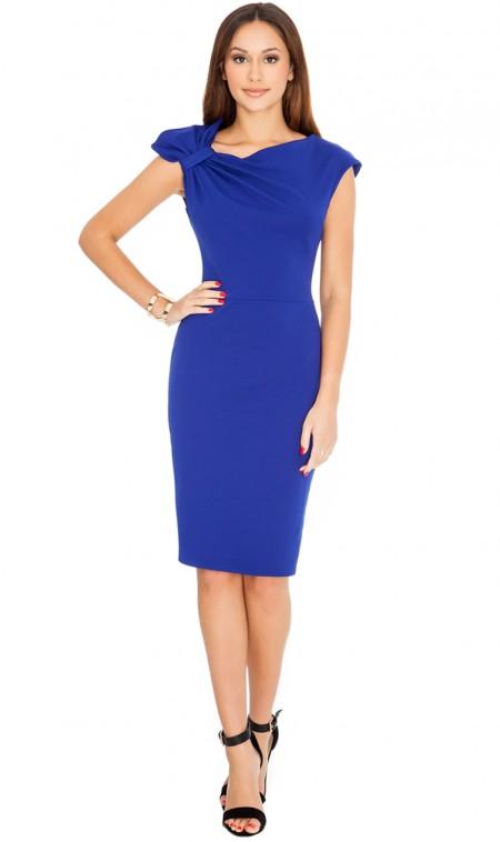 f877091a0901 Elegantné modré dámske šaty
